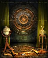 Steampunk Traveler's Maps #2 by Trisste-stock-moved