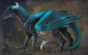 Ye ole dragon form. by CunningFox