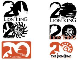 Lion King 20th Anniversary logo Designs by Samoht-Lion