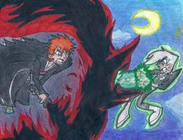 Ichigo vs Danny (traditionally colored) by KylePhantom