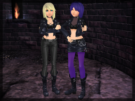 Temmie and Ayane - The Dream Team xD by TemmieVega1999