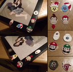 Video Game Frame Charms by HideTheDecay