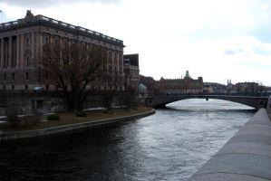 Stockholm's canal by Dorian-Gray7