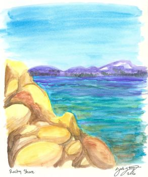 Tahoe Watercolor by Strange-Argument