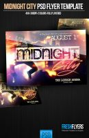 Midnight City PSD Flyer Template by ImperialFlyers