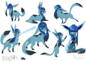 Bluegirl the Glaceon by greyanimebeast