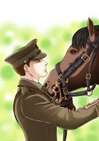 Captain Nicholls and Joey by StudioKawaii