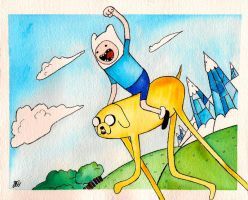 Jake and Finn by RoxyRoo