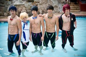 Free! Iwatobi Swim Club Group 2 by LoneShadow-Wolf