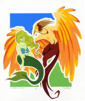 the Bird and the Fish by MegSyv