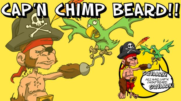 Cap'n Chimp Beard PS3 by zoomHYPERIONzoom