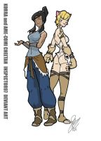 Korra and Ame Comi Cheetah by Inspector97