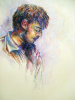 Brandon in Crayon by DragonSpark