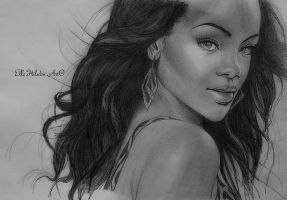 Rihanna drawing #3 by EHilsdonPhotography