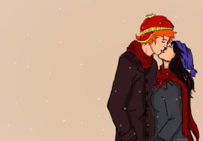 A Kiss in the Cold by nhu-dles