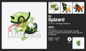 001 Grass Starter: Spizard by LuisBrain
