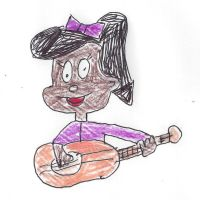 Mary Melody plays guitar by dth1971