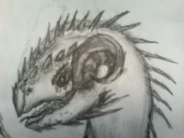 Interested Dragon Close Up by Yoshua171