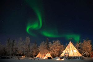 Northern Lights and Teepees 4 by LivingDeadSuperstar