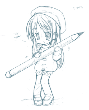 Chibi pencil