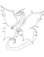 Dragon for Horsie Lineart by himeko