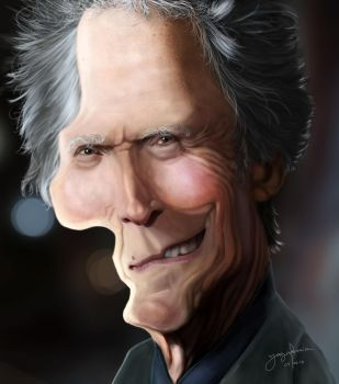 Clint Eastwood caricature by r3cycled