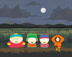 Spooky Night in South Park by MatanArie