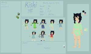 KISHI - Character Reference and Biography by AbominalSnowDemon