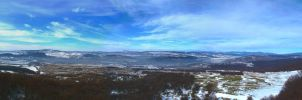 Panoramic view in February by Goppo713