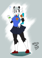 Pay Zoory ( in Shonuff uniform) by TheIcedWolf