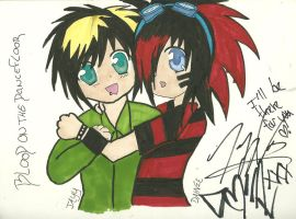Dahvie and jayy XD by AruruusLuna