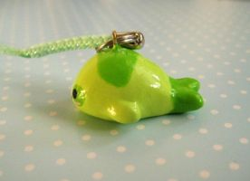 Green Panda Mamegoma Charm 2 by Shattered-Earth