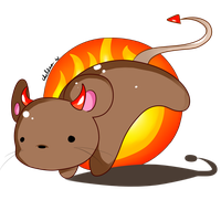 My Little Demon Mouse by chelsosaurus