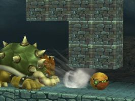 Samus escapes Bowser by Da-Beastn-Brawllas