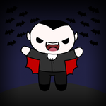 Drawlloween day 22: vampire by to-much-a-thing