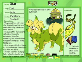Food pup- Starfruit by WickedSpecter