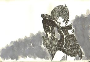 Black Rock Shooter Sch work by akiranasuki