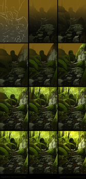 Mossy Trail Speedpainting - Steps by daPatches