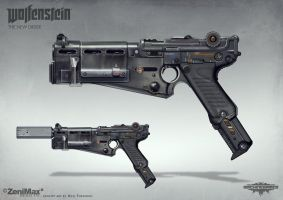 Wolfenstein: The New Order - Handgun 60 by torvenius