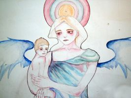 angel and child embrace 1 by orange-peel-eater