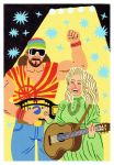 Randy Savage and Dolly Parton by Teagle