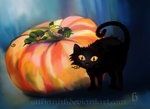 Halloween Pumpkin and Cat by SuliannH
