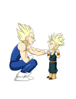 Vegeta And Trunks by rainELL