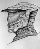 Master Chief sketch by MailJeevas33