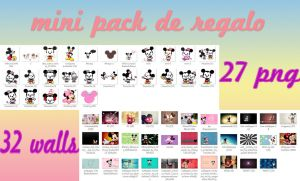 mini pack de regalo de mikey y minnie by FLOPPYTUTOS14
