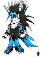 :Fusion: Spectku the Hedge-Wolf by Xx-LordVincent-xX