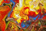 Abstract fluid Painting by Mark-Chadwick