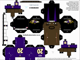 Ed Reed Ravens Cubee by etchings13