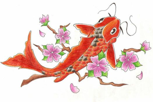koi fish tattoo design by finishstrong