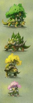 Pokemon variations: Torterra by turnipBerry